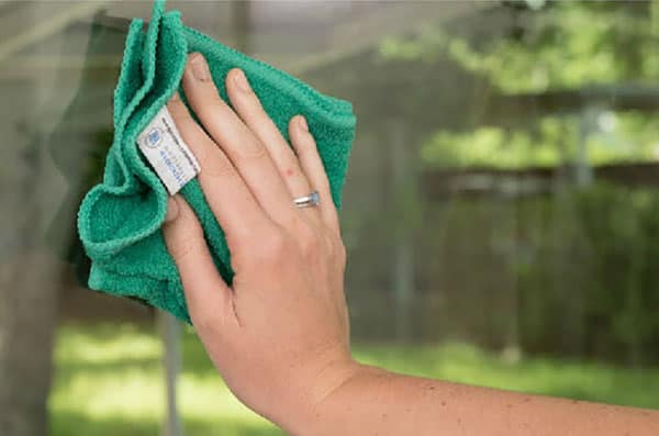Green Microfiber Towels
